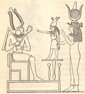 iside osiride e horus - amore